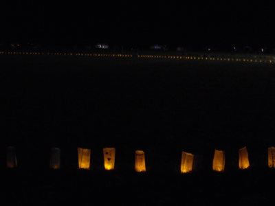 Cancer Research UK (CRUK) - Kirriemuir Relay for Life: Candles of Hope/Ring of Fire