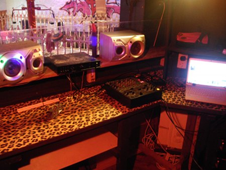 Completed Balcony Bar leopard print DJ Booth