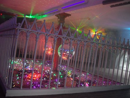 Balcony Bar Dundee Ward Road during refurb - addition of UV tubes