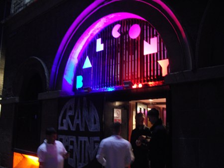 Opening Night: Balcony Bar Dundee on Ward Road, Outside sign Lighting