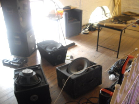 Balcony Bar Dundee: PA club speaker refurb, driver replacement and re-wiring