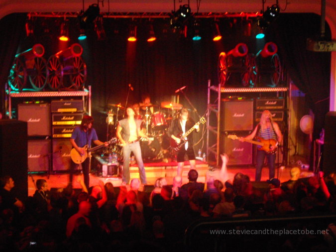 DD8 Music's AC/DC tribute to Bon Scott: BonFest 2014 in Kirriemuir Town Hall. Fire your guns! Lighting by Joe Hawke, sound by audioWAVE.
