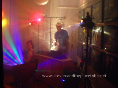 Stevie C's Disco lighting at a wedding engagement party with DJ Ross at The Vine function hall venue in Dundee