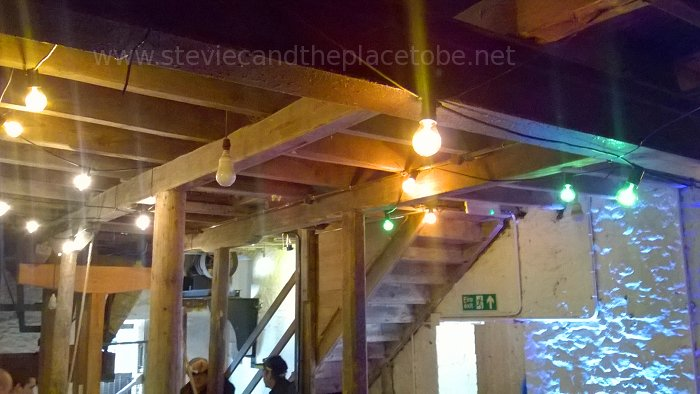 Music at Barry Mill. LED and Festoon Lights by Stevie C. Inside the Mill
