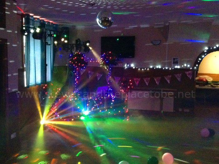 DJ Ross from the Salty Dog Dundee and Stevie C doing music and disco lights at The Burnside Inn, Alyth. Again.