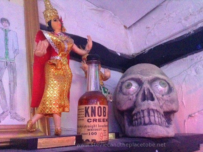Stevie C up Knob Creek and out of his Skull at The Salty Dog Dundee