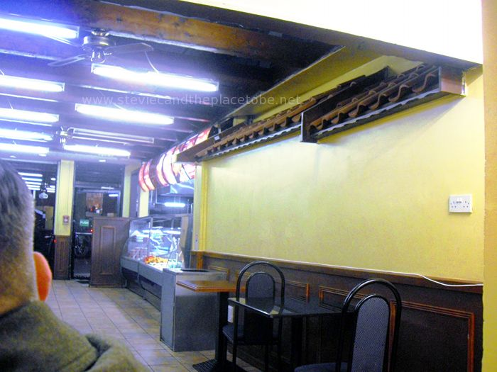 Ross insisted I put this photo in here: because the kebab house had a roof indoors…