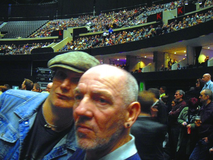 Stevie C with Ross and Eddie at Morrissey: World Peace Is None Of Your Business Tour, Glasgow SSE/SECC