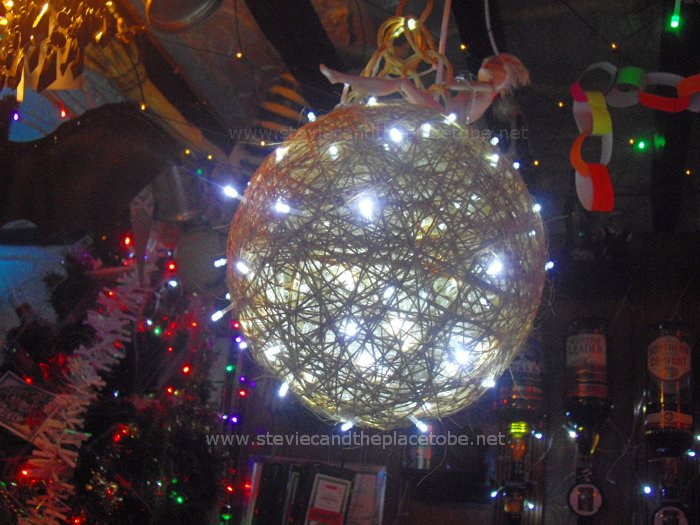 The Salty Dog Crichton Street Dundee - new Barbie wrecking ball with LED fairy light strings