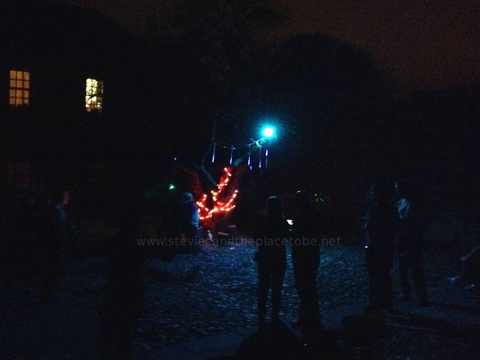 Roots at Mains Castle, Dundee. Courtyard lighting by Stevie C. PA hire from audiowave.co.uk