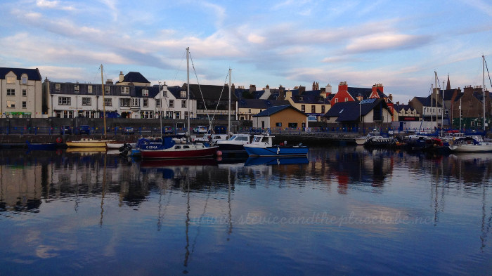 leaving Stornoway - Boats in Bayhead Bridge