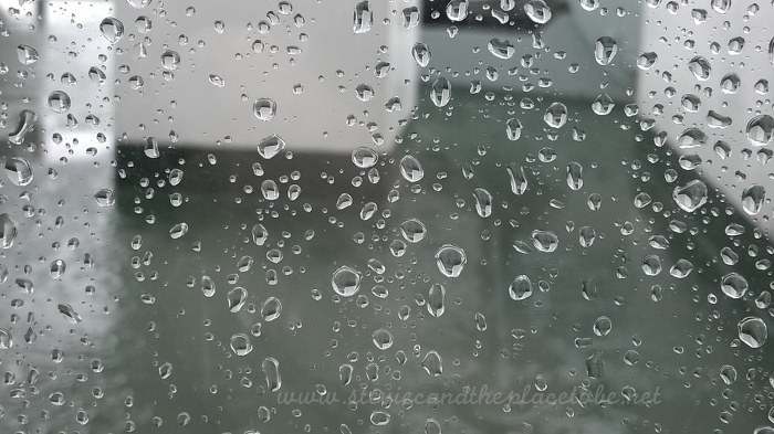 Stornoway ferry window water droplets