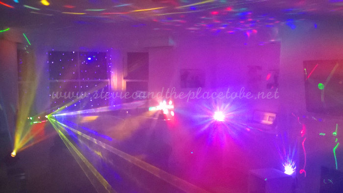 House Party disco lights and lasers