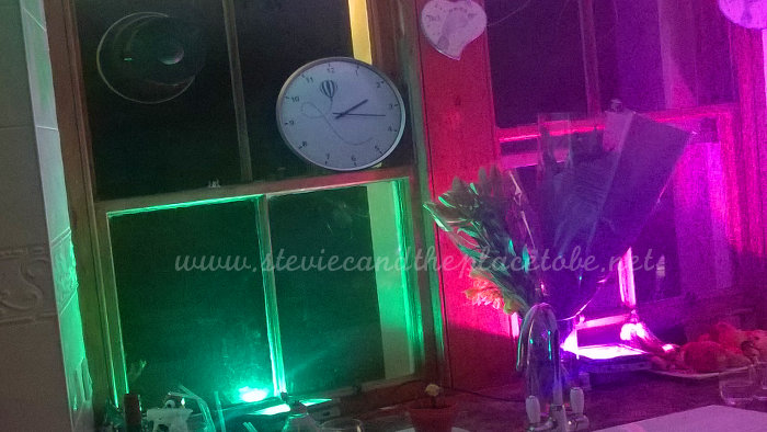 House Party with decorative LED RGB flood lights