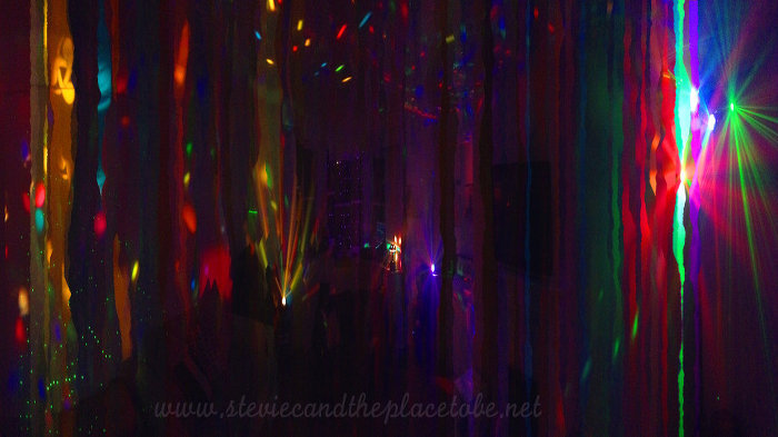 House Party disco lights and lasers panoramic photo