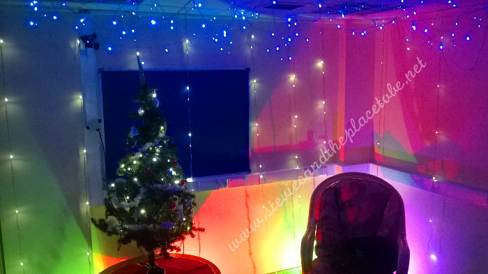 Stevie C provided fairy lights for a kids Santa Grotto in Kirriemuir Community Learning and Development center