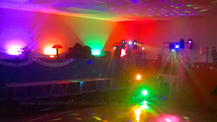 LED Disco Lights for Kirriemuir Guides Halloween Disco by Stevie C, Sound by DD8 Music