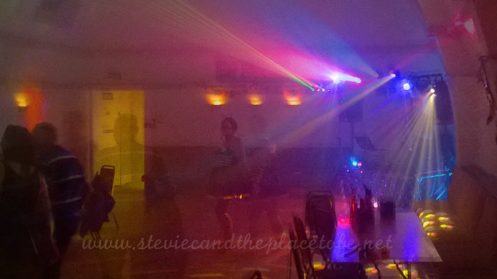 Disco Lights for Kirriemuir Thistle Football Club FC Halloween Disco in The Airle Arms Hotel Function Suite by Stevie C, DJ and Sound by DD8 Music