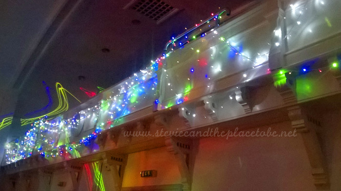 Kirriemuir Town Hall Balcony with Stevie's Fairy Lights