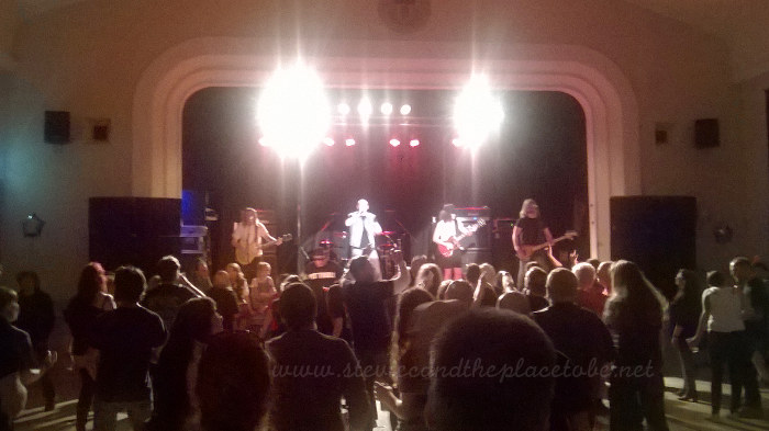 DD8 Music Bon Scott Birthday Bash in Kirriemuir Town Hall. Sound by audioWAVE, lights by Joe Hawke.