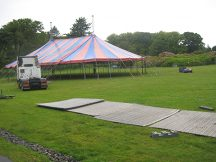 Pitching our tents at HebCelt Fest
