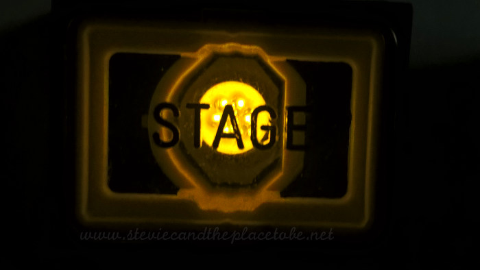 Stage cue call button with LED source. I can see Big Clive tearing one down.