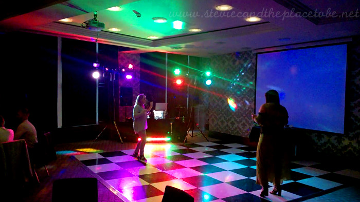 DJ Ross playing in The Malmaison Dundee disco function suite