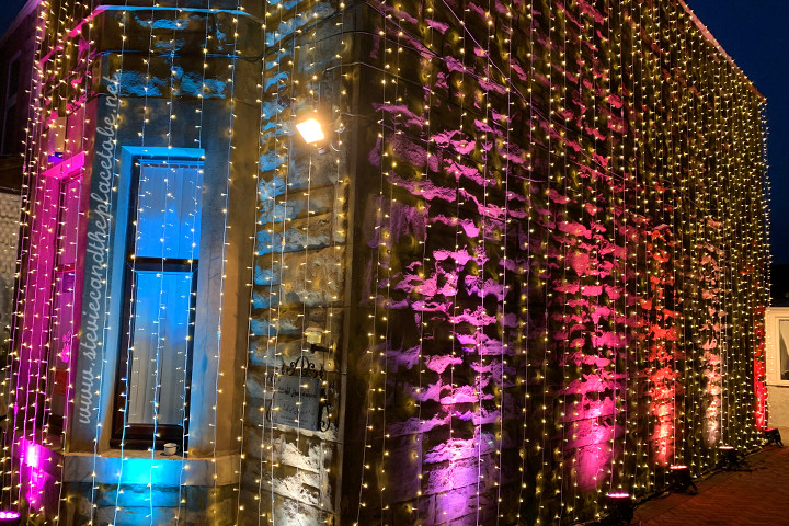 AML provided a canopy fabricated from LED fairy lights and architectural LED up-lighting for an Asian wedding celebration in Dundee