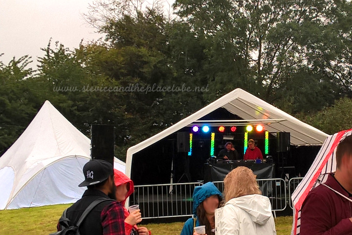 audiowave supplied a complete package for a secret garden party/rave: a pop-up stage and marquee, stage/rave lights and full PA and monitor system