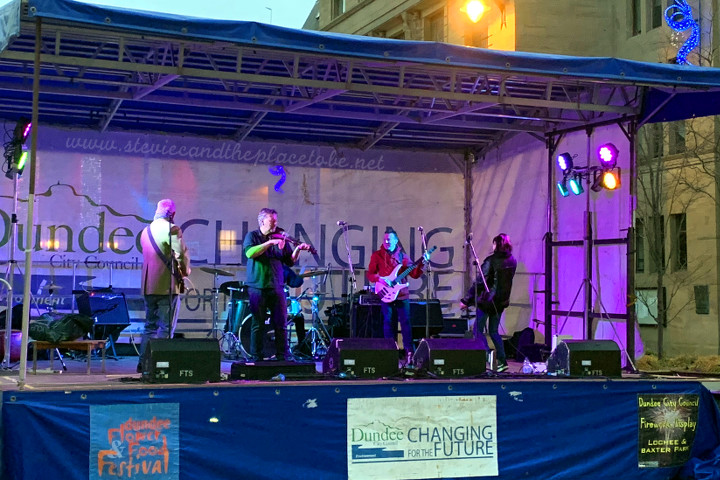 audiowave provided a D&B PA System, Logic monitor system, backline and an LED PARcan lighting rig for a day of music with Lefty and Friends in Dundee City Square outside the Caird Hall