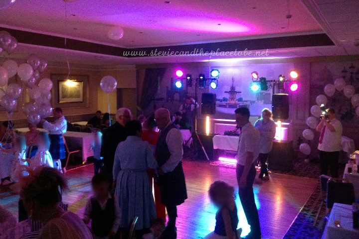 Stevie C providing disco light hire and PA for a wedding reception/function in Q Bar (Queens Hotel) Dundee