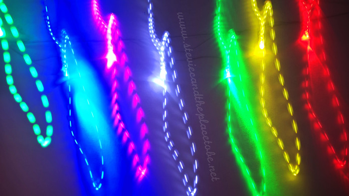 Stevie C's Light art - made from converted fairy light strings to LED, low ISO and long exposure. the flickering is caused by the un-smoothed DC power