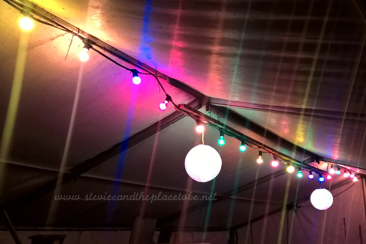 AudioWave and Stevie C provided festoon & flood lighting for Music At The Mill - an annual live music event held at Barry Mill in Carnoustie