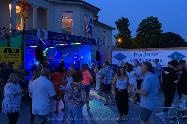 Audiowave and Steve Page providing D&B PA Hire and LED lighting hire for the Alba Real Ale Fest at The Royal Tay Yacht Club in Broughty Ferry Dundee