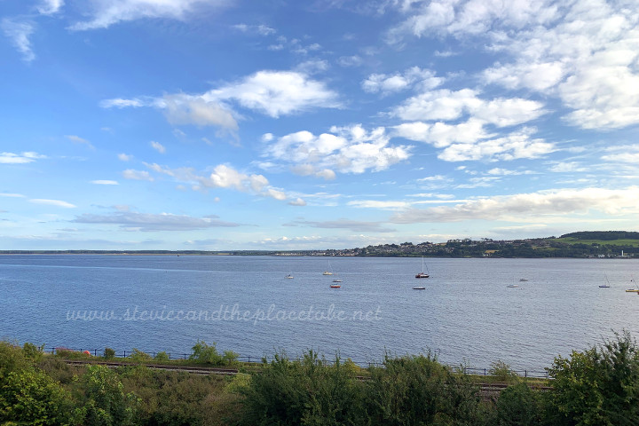 The River Tay as seen from the Royal Tay Yacht Club in Broughty Ferry Dundee.