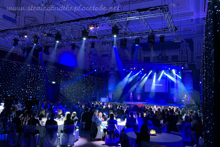AM Lighting - now AML Event Hire Dundee providing lighting design, hire and install for the Dundee Sports Awards in The Caird Hall