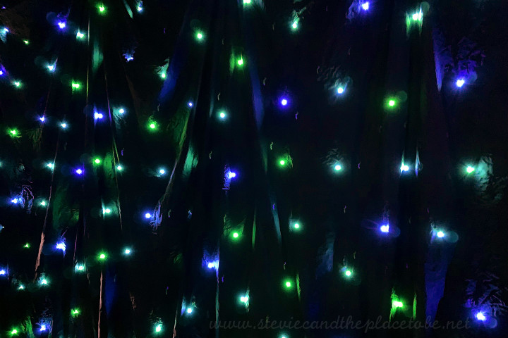 AM Lighting - now AML Event Hire: repairing RGB LED star cloths for hire at an event