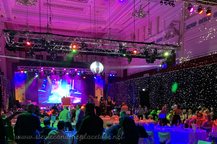AML provided LED star cloths, moving lights, PARcans and a mirror ball for the Tayside Contracts Awards, Held in Dundee's Caird Hall