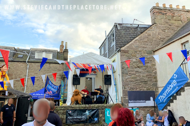 The Fishermans Tavern Broughty Ferry, Dundee. Beer Fest in aid of RNLI (saving lives at sea). Vocal PA and marquee supplied by audiowave.co.uk
