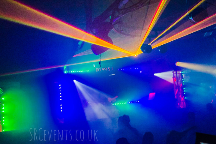 Audiowave.co.uk provided PA, Lighting, Stage, DJ Decks and AV for a NYE Rave in The Ice Factory, Perth