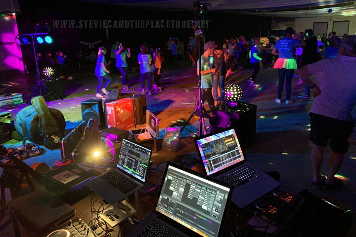 Stevie C helping DD8 Music with sound, lighting and DJing for Cancer Research UK (CRUK) Relay for Life 2019 in The Mart Forfar (Strathmore Hall). I got to use my new ADJ Starbursts, controlled with MyDMX 3 and an Akai launchpad with Mac OS.