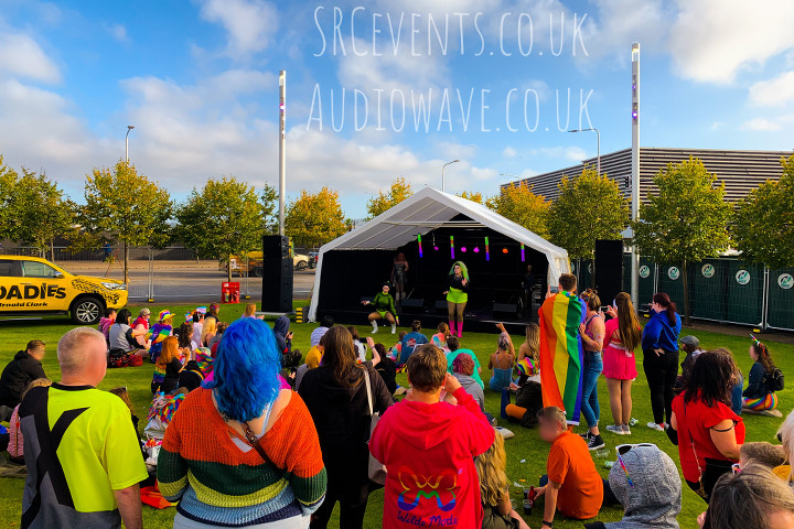 Dundee Pride 2019 - PA supplied by audiowave.co.uk, lighting programmed by Stevie C :)