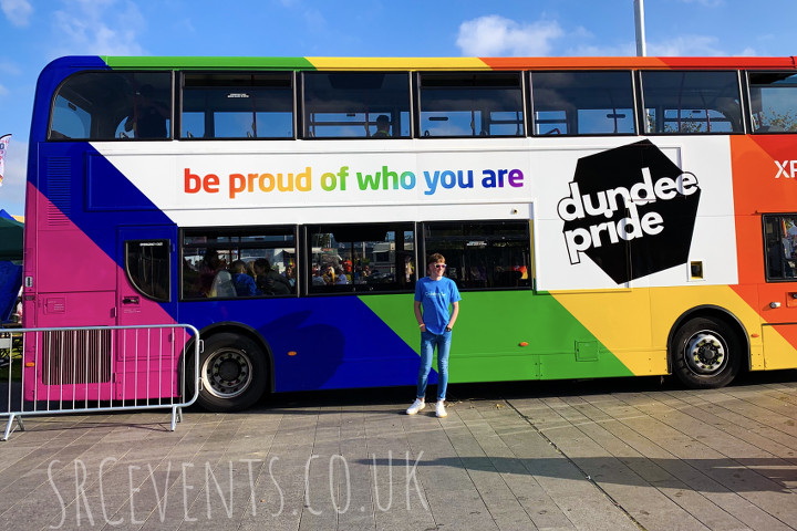 Dundee gay Pride bus