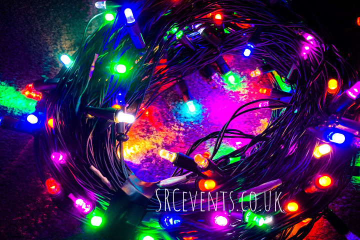 Stevie C's custom LED fairy lights, as used at Dundee Gay Pride 2019