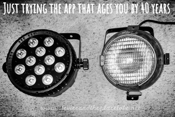 Just trying the app that ages you by 40 years, applied to some lighting equipment