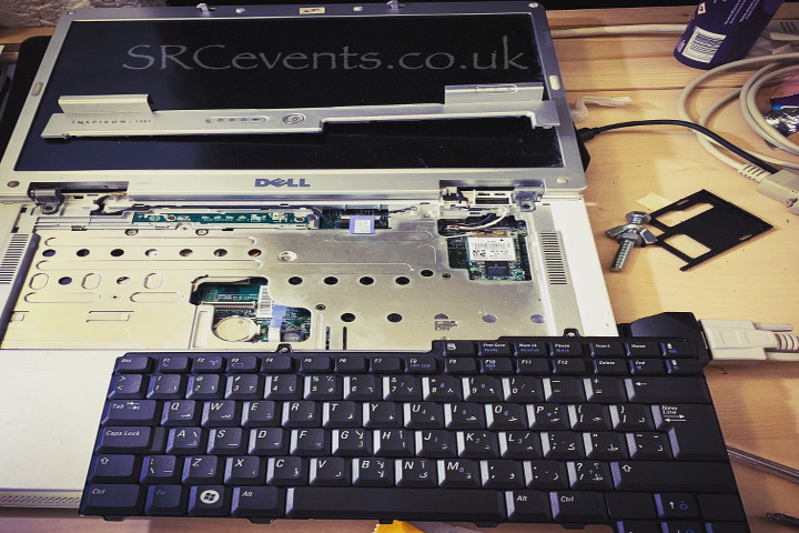 Repairing a Dell Inspiron with a new keyboard