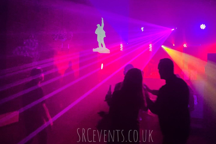 Audiowave and Stevie C providing D&B PA systems, and a rave lighting rig with strobes and lasers for Urban Flava in Mains Castle in Dundee