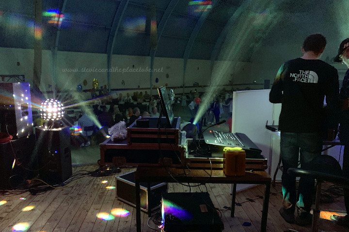 AM Lighting - now AML Event Hire providing disco lighting for a wrap party hosted by Jiving Jim in Arbroath Community Centre