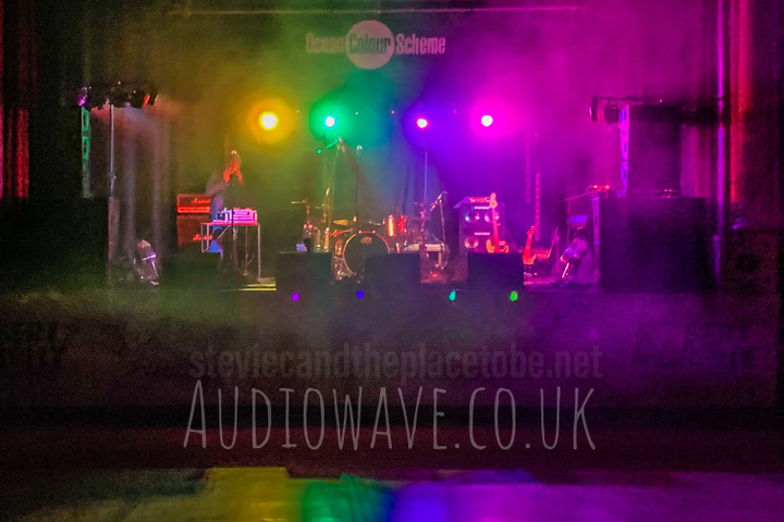 Audiowave provided PA and lighting for the Robert Murphy Charity Foundation in The Dobbie Hall in Larbert. Pre-show lighting setup for the DJ.