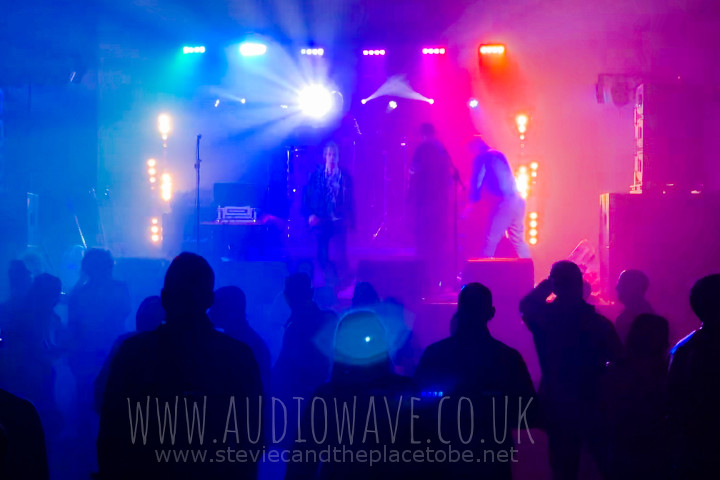 Audiowave provided PA and lighting for the Robert Murphy Charity Foundation in The Dobbie Hall in Larbert. Post-show lighting setup for the DJ.